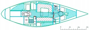 S&S 34 Cruiser Racer 2 gen arrangement copy